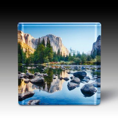Custom Acrylic Square Photo Coaster Set of 4