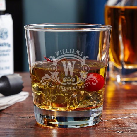 Westbrook Monogram Whiskey on the Rocks Glass