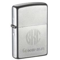 Custom Engraved Groomsman Zippo Lighter