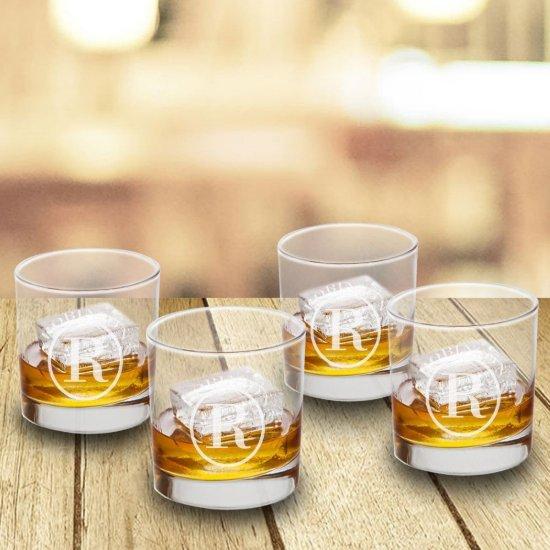 Lowball Whiskey Glasses - Set Of 4 - Circle