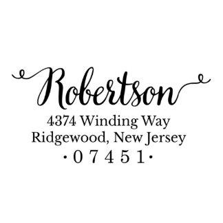 Sello del remite de Robertson