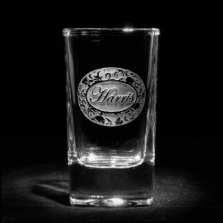 Ornate Damask Personalized Shot Glass