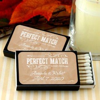Kraft Paper Personalized Black Matchboxes