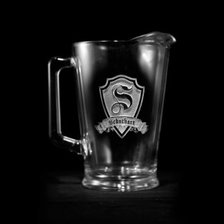 Family Crest Personalized Pitcher Beer Pitcher