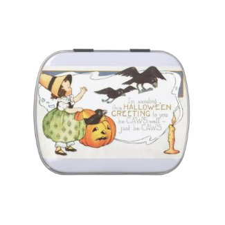 Vintage Halloween Candy Tin Party Favors