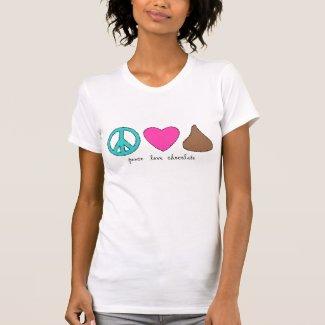 Peace Love Chocolate Tee Shirt