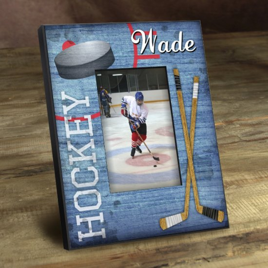 Personalized Kids Sports Frame - Hockey