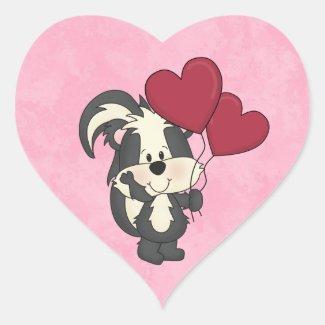 Valentine Skunk sticker