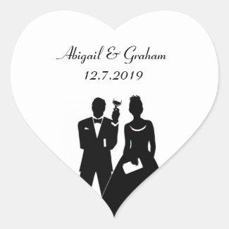 Perfect Couple Invite Seals Heart Sticker