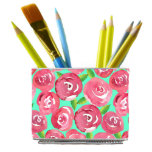 Organize Anything MagBin w/Floral Wrap