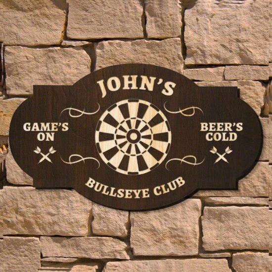 Bullseye Custom Bar Sign (Signature Series)