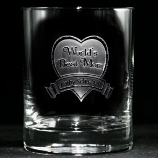 Best Mom Personalized Whiskey Glass