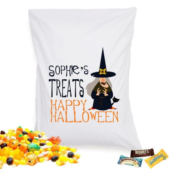 Halloween Treat Pillowcase - Witches Cat