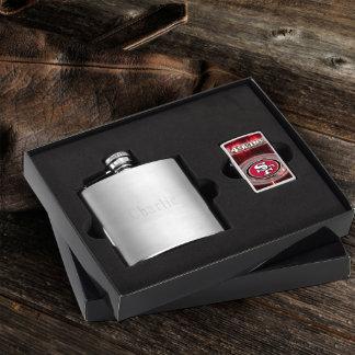 Brushed Flask & 49ers NFL Zippo Lighter