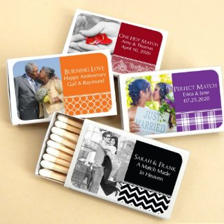 Photo Personalized Matches - Set Of 50