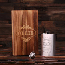 Gift Box & 8 oz. Stainless Steel Hip Flask
