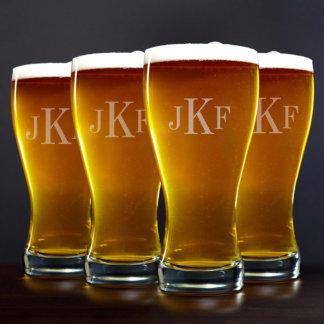 Vidrios de cerveza clásicos de Pilsner del