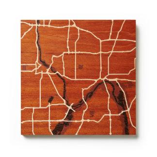 Minneapolis / St, Paul, MN by Woodcut Maps