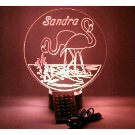 Flamingo Nautical Night Light Lamp LED Personalize