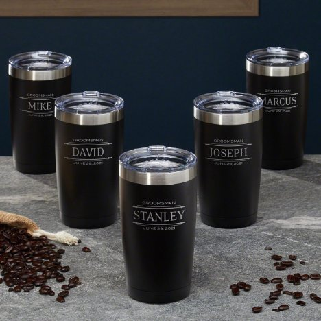 Set of 5 Stanford Engraved Coffee Tumblers