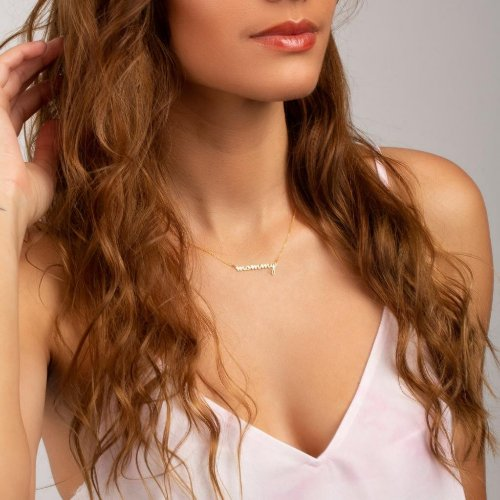 Beautiful Mother's 14K Gold, Silver, or Rose Neckl