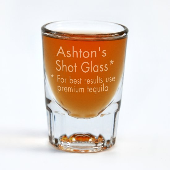 Custom Engraved Premium Tequila Shot Glass