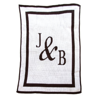 """Personalized """"You and Me"""" Inititals Throw Blanket"""