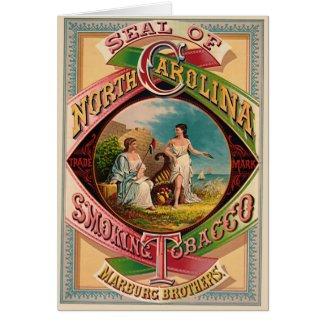 Retro Tobacco Label 1879 Card