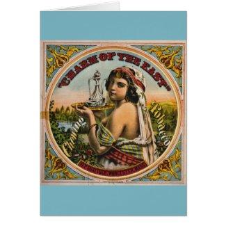 Retro Tobacco Label 1872 Card