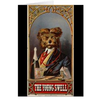 Retro Tobacco Label 1869 Card