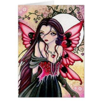 Gothic Valentine Fairy Card