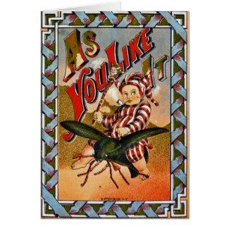 Retro Tobacco Label 1869 a Card