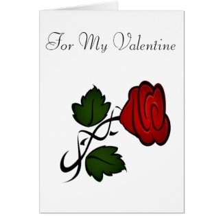 Red Rose Valentine Card