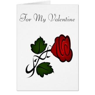 Red Rose Valentine Card