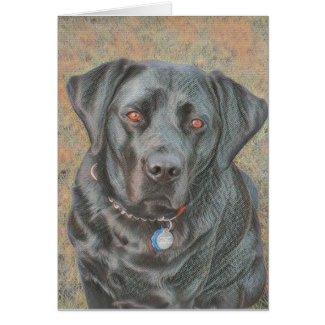Black Labrador Dog All Purpose Greetings Card