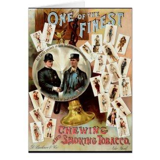 Retro Tobacco Label 1890 Card