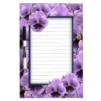 Pansy Garden Dry Erase Board