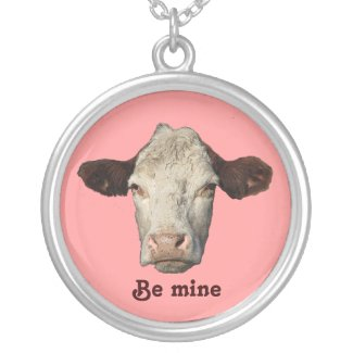 Bossy the Cow Valentine Silver Plated Necklace