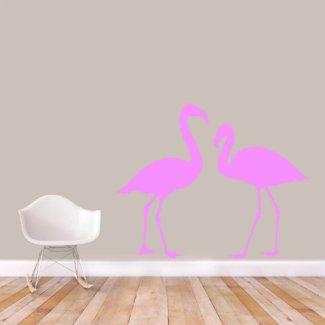 X-Large Flamingos Wall Decal Set