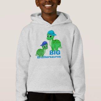 Cute Big Brother Green Dinosaurs Baseball Caps Hoodie