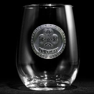 Irish Pride Personalized Stemless Wine Glass