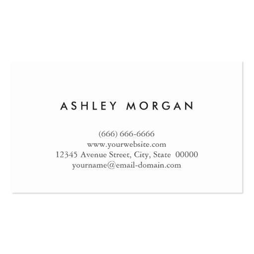 Black White Monogrammed - Hair Salon Hairstylist Business Card Template (back side)