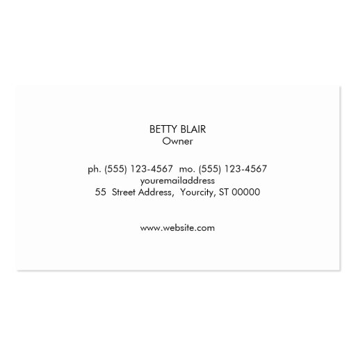 Colorful Floral, Gold Elegant Fashion and Beauty Double-Sided Standard Business Cards (Pack Of 100) (back side)