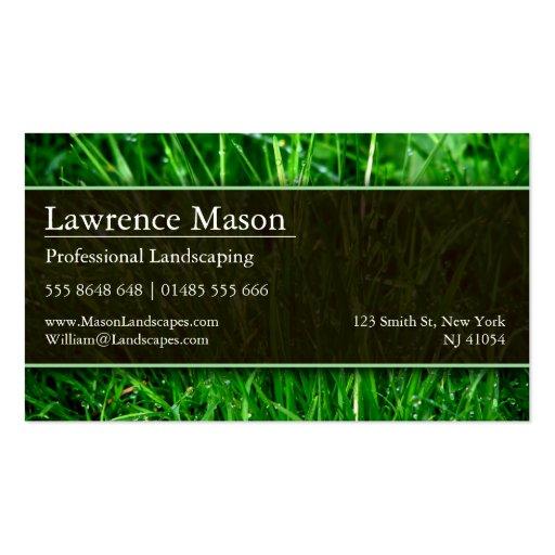 Gardener / Landscaping Business Card (back side)