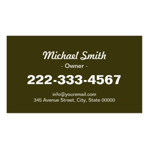 Yard Lawn Care Gardening Landscaping Green Grass Double-Sided Standard Business Cards (Pack Of 100) (back side)