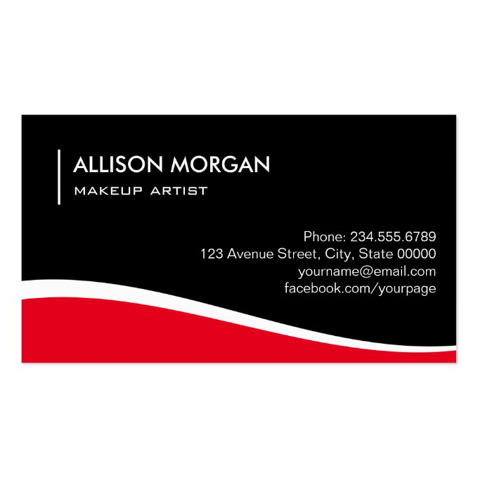Impressive makeup artist hot red lips lipstick business card for Impressive business cards