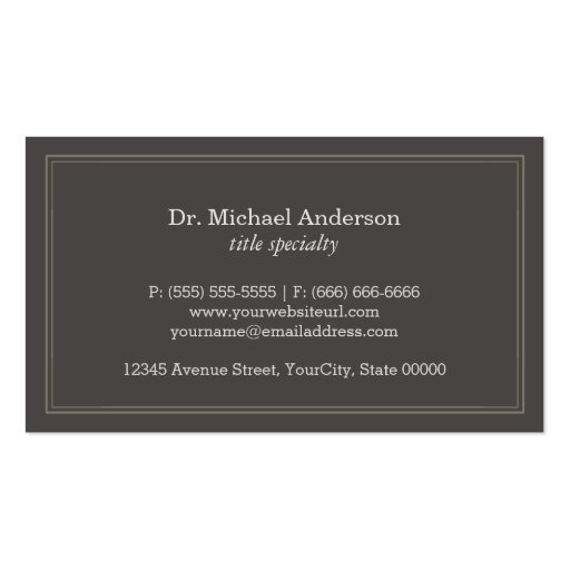RX Symbol Pharmacy Chemist Company - Classic Linen Business Card Template (back side)