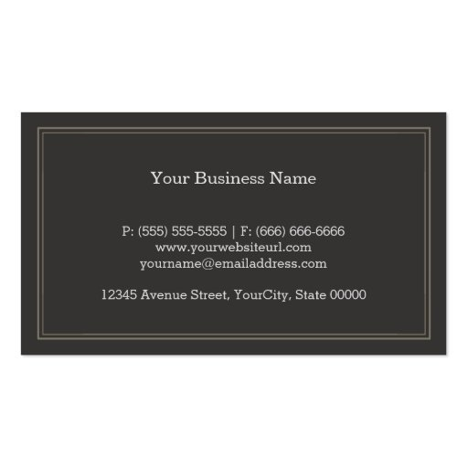Staff of Asclepius Medical Symbol - Physician Business Card (back side)