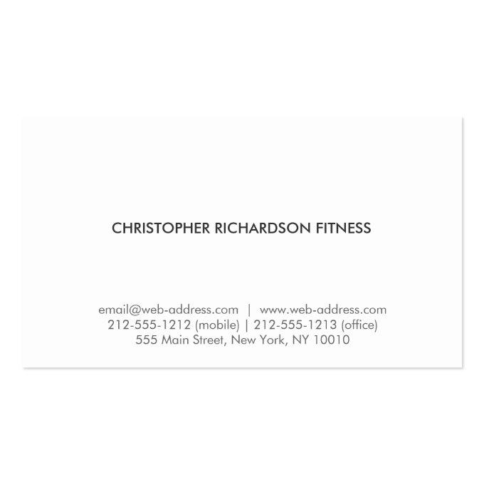 MODERN & MINIMAL on RUSTIC BROWN WOOD Business Card (back side)