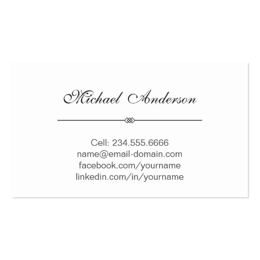 Graduation Name Card Namecard Silver Metallic Look Double-Sided Standard Business Cards (Pack Of 100) (back side)